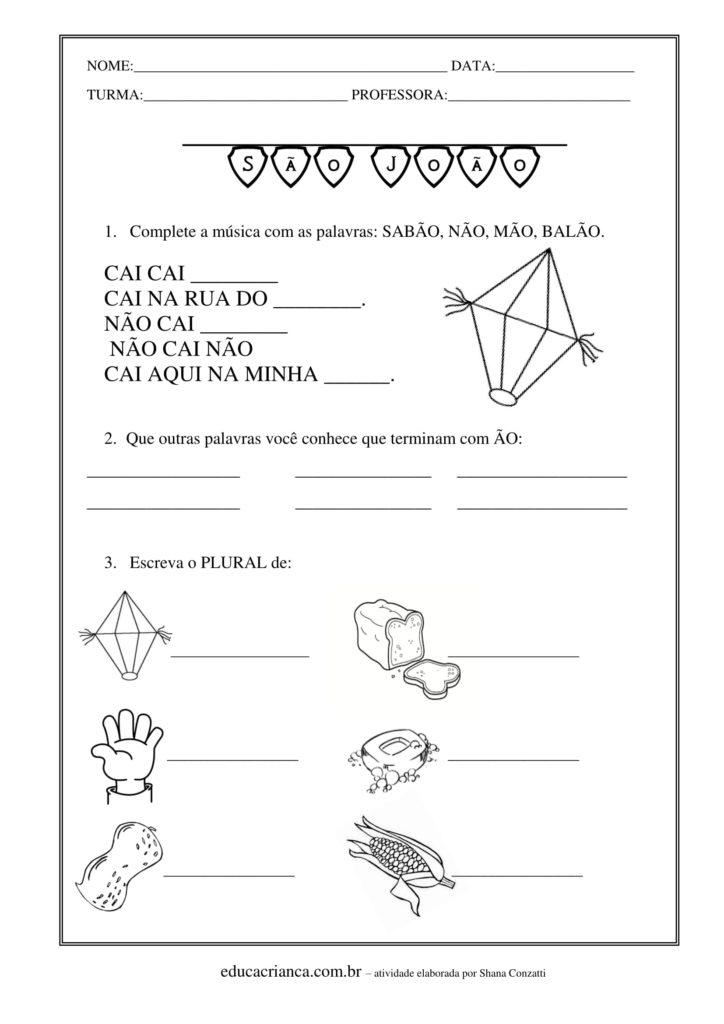 Top Atividades para festas juninas exclusivas para imprimir - Educa  TC16