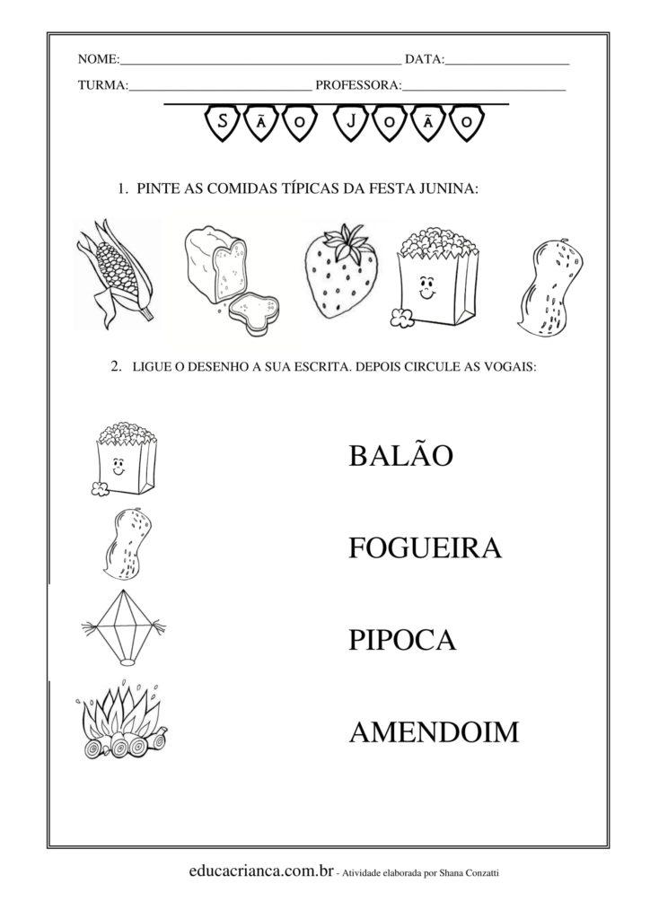 atividades para festa junina