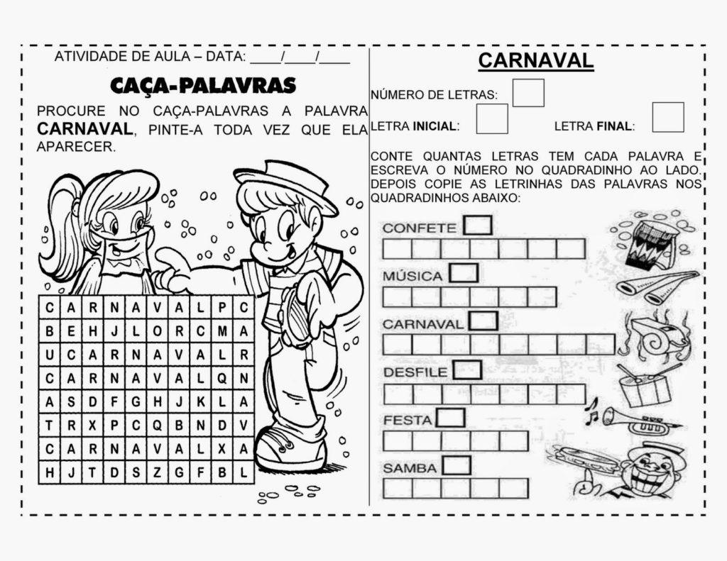 carnaval nas séries iniciais