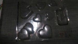 corações de chocolate