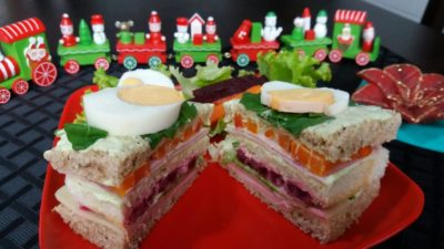 sanduíche de Natal