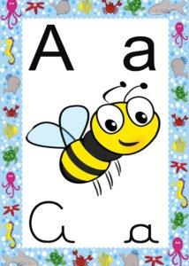 Alfabeto Fundo Mar Educa Crianca
