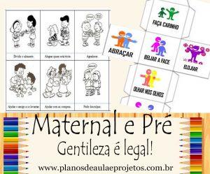 Gentileza para maternal e pré-escola
