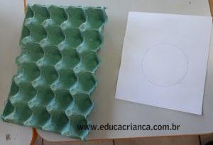 Bandeira do Brasil com bandeja de ovos